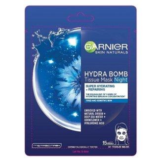 Garnier Skin Naturals Hydra Bomb, nawilżająca maska na tkaninie na noc, 1 sztuka - zdjęcie produktu
