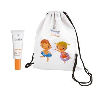 Zestaw Iwostin Solecrin, krem BB, SPF50 +, skóra wrażliwa, 30 ml + dodatkowo worek-plecak - zdjęcie produktu