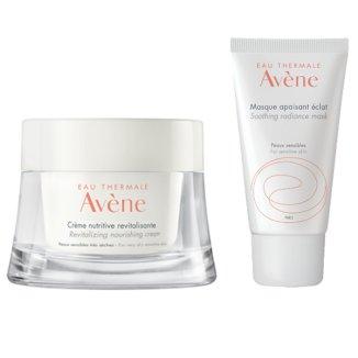 Avene odżywczy krem rewitalizujący, 50 ml + dodatkowo maseczka kojąco-rozświetlająca, 15 ml - zdjęcie produktu