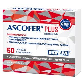 Ascofer Plus, 50 tabletek powlekanych - zdjęcie produktu