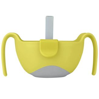 B.Box, wielofunkcyjny kubek niewysypek 3w1 na przekąski, ze słomką, Lemon Sherbet, od 6 miesiąca, 1 sztuka - zdjęcie produktu