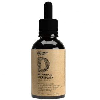 Herbs Hut, witamina D 2000 j.m., krople, 50 ml - zdjęcie produktu
