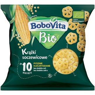 BoboVita Bio Krążki soczewicowe, pysznie kukurydziane, po 10 miesiącu, 20 g - zdjęcie produktu