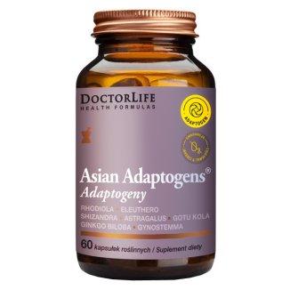 Doctor Life Asian Adaptogens, Adaptogeny, 60 kapsułek roślinnych - zdjęcie produktu