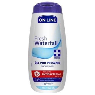 On Line Natural Antibacterial Factor, żel pod prysznic, Fresh Waterfall, 400 ml - zdjęcie produktu