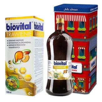 Biovital Trawienie, 1000 ml + dodatkowo Biovital Zdrowie puszka - zdjęcie produktu