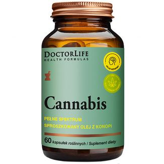 Doctor Life Cannabis, 60 kapsułek roślinnych - zdjęcie produktu
