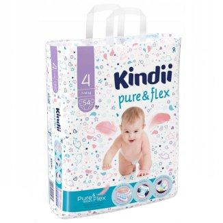 Cleanic Kindii Pure&flex, pieluchy maxi, rozmiar 4, 7-14 kg, 54 sztuki - zdjęcie produktu