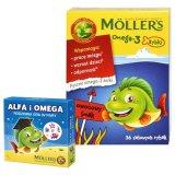 Tran Moller's Omega-3 Rybki, owocowe, 36 sztuk + dodatkowo Alfa i Omega, rodzinna gra w pary, 1 sztuka - miniaturka zdjęcia produktu