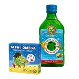 Tran Moller's, owocowy, dla dorosłych i dzieci powyżej 3 roku życia, 250 ml + dodatkowo Alfa i Omega, rodzinna gra w pary, 1 sztuka - miniaturka zdjęcia produktu