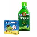 Tran Moller's norweski, jabłkowy, dla dzieci od 3 roku życia i dorosłych, 250 ml + dodatkowo Alfa i Omega, rodzinna gra w pary, 1 sztuka - miniaturka zdjęcia produktu