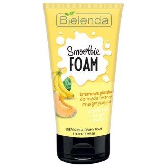 Bielenda Smoothie Foam, kremowa pianka do mycia twarzy, energetyzująca, prebiotyk, banan, melon, 135 g - zdjęcie produktu