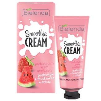 Bielenda Smoothie Cream, prebiotyczny krem nawilżający, prebiotyk, truskawka, arbuz, 50 ml - zdjęcie produktu