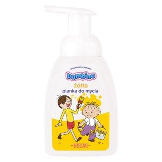 Bambino Dzieciaki, kolorowa pianka do mycia, żółta, 250 ml - zdjęcie produktu
