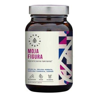 Aura Herbals, Moja Figura, ograniczenie łaknienia, 60 kapsułek wegańskich - zdjęcie produktu