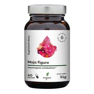 Aura Herbals, Moja Figura, wspomaganie metabolizmu, 60 kapsułek wegańskich - zdjęcie produktu