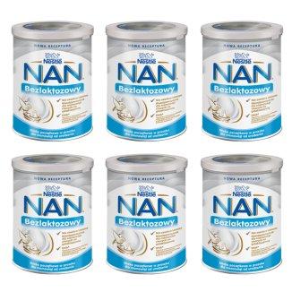 Zestaw Nestle NAN Expert Bezlaktozowy, dla niemowląt w nietolerancji laktozy oraz biegunce, od urodzenia, 6 x 400 g - zdjęcie produktu