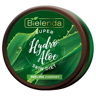 Bielenda Super Skin Diet, Hydro Aloe, nawilżający peeling cukrowy do ciała, 350 g - zdjęcie produktu