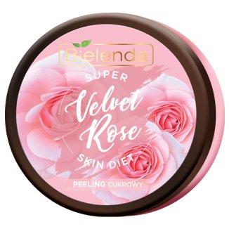 Bielenda Super Skin Diet, Velvet Rose, regenerujący peeling cukrowy do ciała, 350 g - zdjęcie produktu