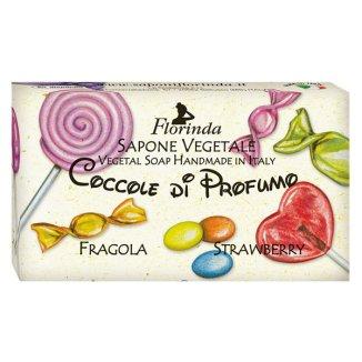 Florinda, mydło roślinne, zapach truskawkowy, 100 g - zdjęcie produktu