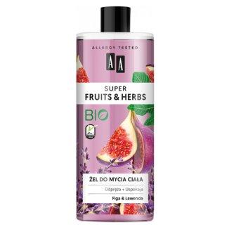 AA Super Fruits i Herbs, żel do mycia ciała, figa i lawenda, 500 ml - zdjęcie produktu