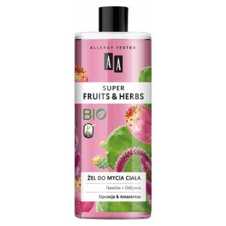 AA Super Fruits i Herbs, żel do mycia ciała, opuncja i amarantus, 500 ml - zdjęcie produktu