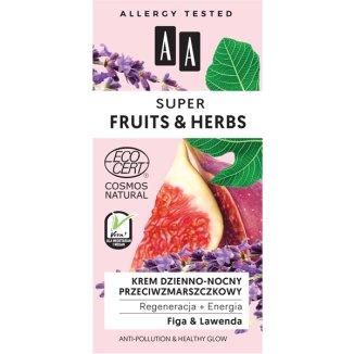 AA Super Fruits & Herbs, krem przeciwzmarszczkowy do twarzy, figa i lawenda, 50 ml - zdjęcie produktu