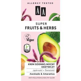 AA Super Fruits & Herbs, krem odżywczy do twarzy, awokado i amarantus, 50 ml - zdjęcie produktu