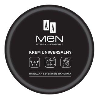 AA Men Hypoallergenic, krem uniwersalny do twarzy, rąk i ciała, 125 ml  - zdjęcie produktu