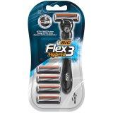 BIC Flex 3 Hybrid, maszynka do golenia trzyostrzowa, uchwyt + 4 wkłady - miniaturka zdjęcia produktu