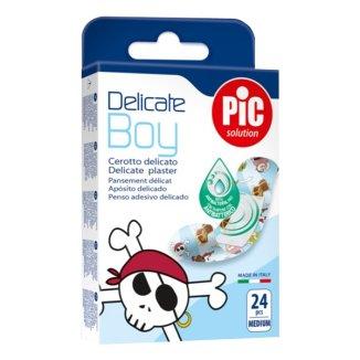 Pic Solution Delicate Kids Boy, plastry antybakteryjne, 19 mm x 72 mm, 24 sztuki - zdjęcie produktu