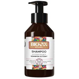 Biovax Botanic, oczyszczający szampon octowy, ocet jabłkowy, rozmaryn, tatarak, 200 ml - zdjęcie produktu