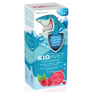 AvetPharma Kidavet Odporność, smak malinowy, 250 ml - zdjęcie produktu
