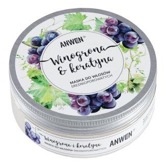 Anwen Winogrona i Keratyna, maska do włosów średnioporowatych, 200 ml - zdjęcie produktu