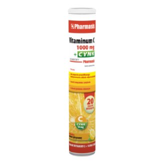Pharmasis Vitaminum C 1000 mg + Cynk, 20 tabletek musujących - zdjęcie produktu