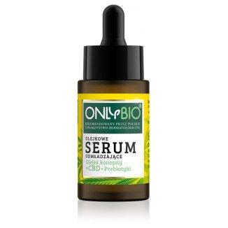 OnlyBio, olejkowe serum odmładzające, olejek konopny + CBD + prebiotyki, 30 ml - zdjęcie produktu