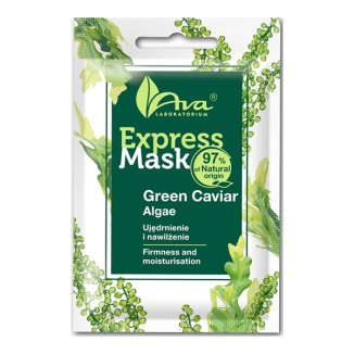 Ava Express Mask, ujędrniająca maseczka do twarzy z zielonym kawiorem i algami Laminaria, 7 ml - zdjęcie produktu