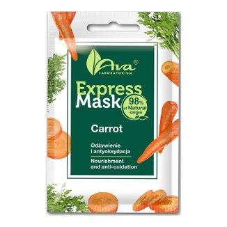 Ava Express Mask, odżywcza maseczka do twarzy, z wyciągiem z marchewki, 7 ml  - zdjęcie produktu