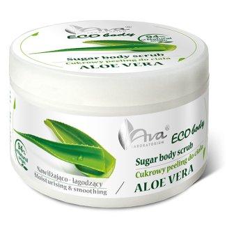 Ava Eco Body Peeling, cukrowy peeling do ciała z aloesem, 250 g - zdjęcie produktu