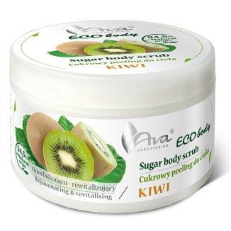 Ava Eco Body Peeling, cukrowy peeling do ciała z kiwi, 250 g - zdjęcie produktu