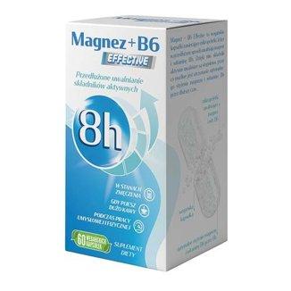 Magnez + B6 Effective, 60 kapsułek - zdjęcie produktu
