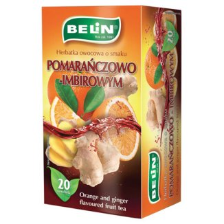 Belin Herbatka owocowa pomarańczowo-imbirowa, 2 g x 20 saszetek - zdjęcie produktu