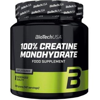 BioTech 100% Creatine Monohydrate, kreatyna, 500 g - zdjęcie produktu