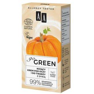AA Go Green, kojący krem pod oczy i do twarzy, z dynią, 50 ml - zdjęcie produktu