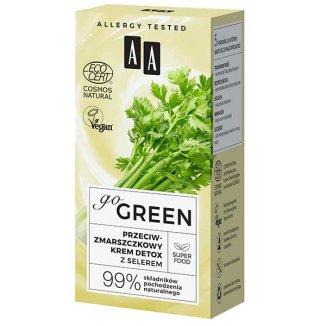 AA Go Green, przeciwzmarszczkowy krem do twarzy, z selerem, 50 ml - zdjęcie produktu