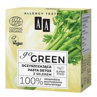 AA Go Green, oczyszczająca pasta do twarzy, z selerem, 50 ml - zdjęcie produktu