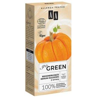 AA Go Green, regenerujące serum olejowe do twarzy, z dynią, 30 ml - zdjęcie produktu