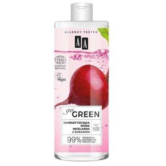 AA Go Green, energetyzująca woda micelarna do twarzy, z burakiem, 400 ml - zdjęcie produktu
