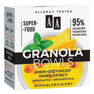 AA Granola Bowls, krem odżywczo-nawilżający, cera sucha i odwodniona, 50 ml - zdjęcie produktu