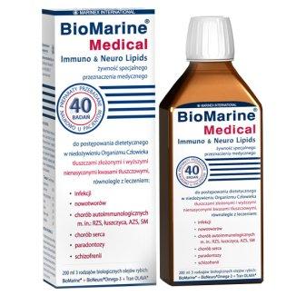 BioMarine Medical Immuno & Neuro Lipids, płyn, 200 ml - zdjęcie produktu